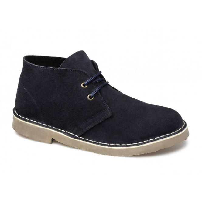 Cotswold SAHARA Mens Suede Leather Desert Boots Navy