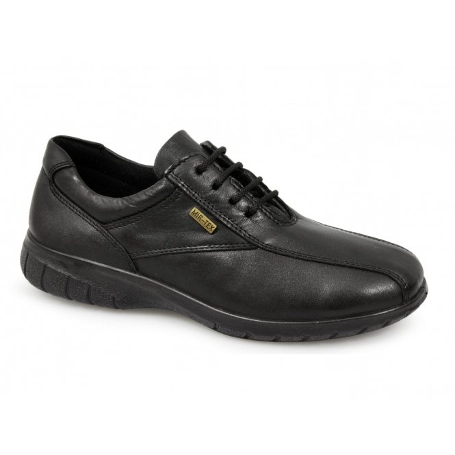 Cotswold SALFORD Ladies Waterproof Leather Shoes Black