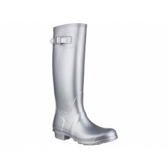 SANDRINGHAM Ladies Tall Wellington Boots Silver