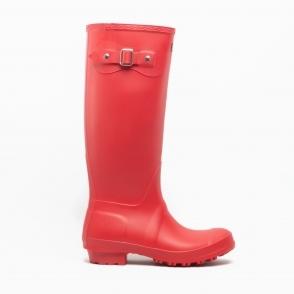 Cotswold SANDRINGHAM Ladies Womens Comfort Waterproof Tall Wellington Boots Red