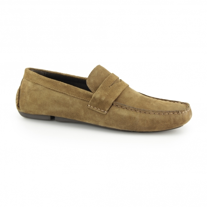 Red Tape CRANFIELD Mens Suede Driving Loafers Tan