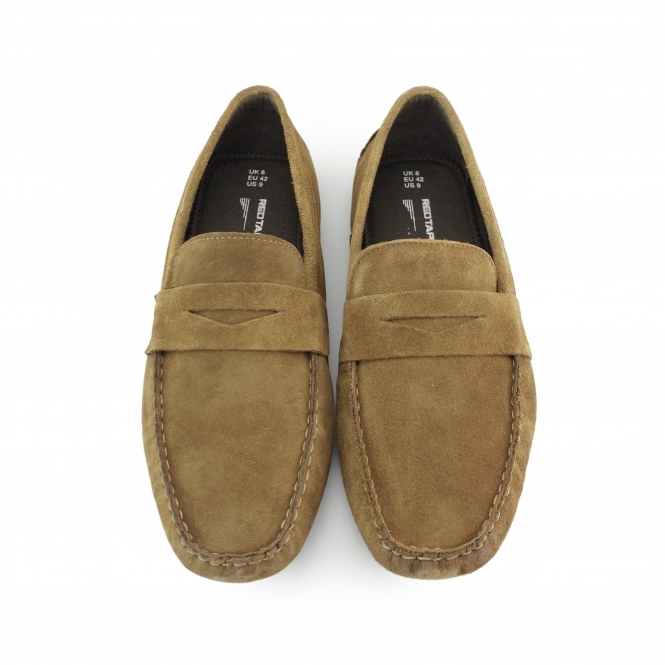 5b6f023cc67 Red Tape CRANFIELD Mens Suede Driving Loafers Tan