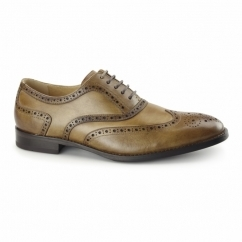 CRESTO Mens Leather Oxford Brogues Tan