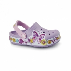 CROCBAND BUTTEFLY KIDS Girls/Unisex Clogs Iris