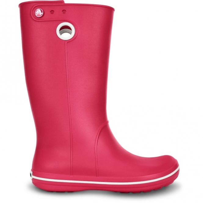 Crocs CROCBAND JAUNT Ladies Croslite Wellington Boots Raspberry