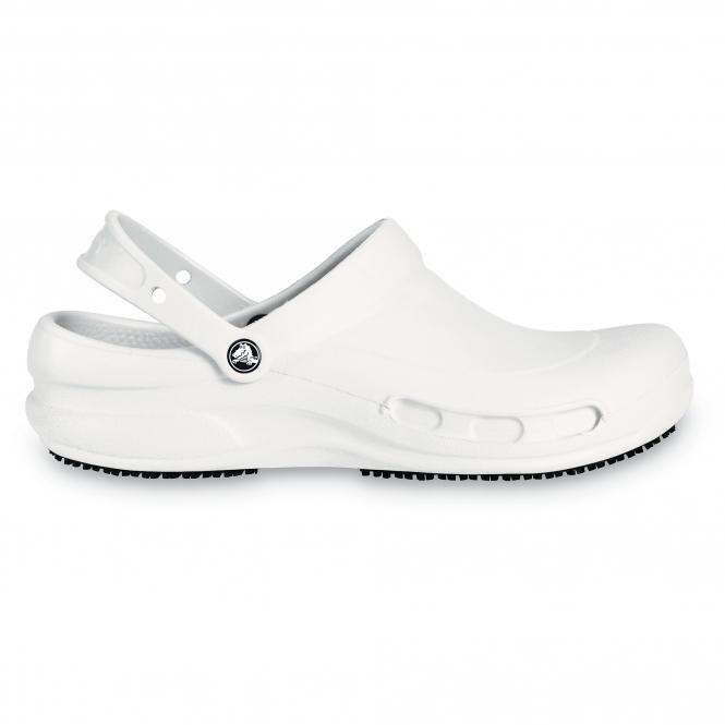2df188535 Crocs 10075 BISTRO Unisex Work Clogs White