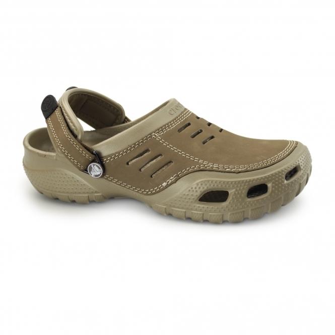 Crocs Yukon Sport Khaki, Men's Leather Topped Slip on Shoe UK 8