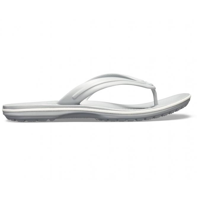 a81503351923 Crocs 11033 CROCBAND FLIP Mens Flip Flops Light Grey White