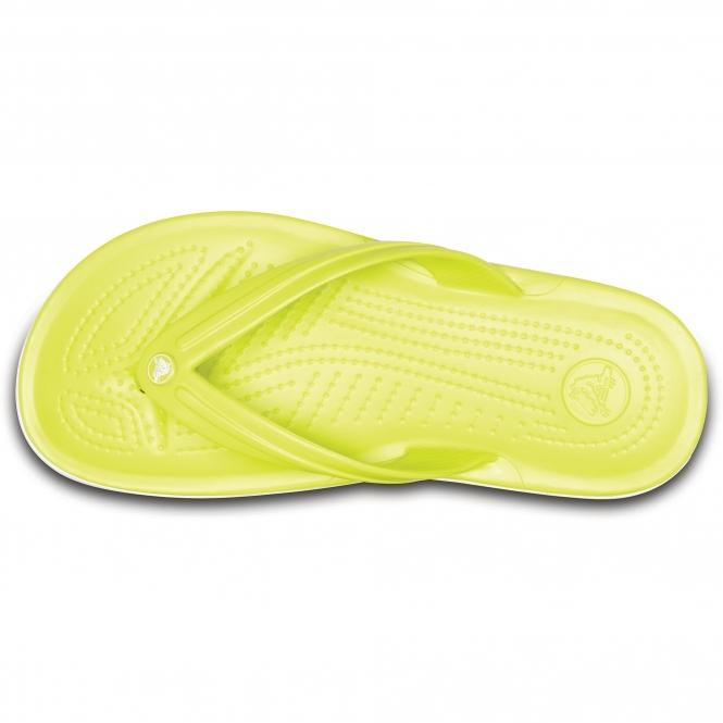 6bc44e7a5 Crocs 11033 CROCBAND FLIP Flip Flops Tennis Ball Green White