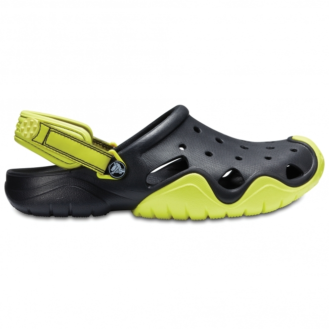 3f7f03e904dc0 Crocs 202251 SWIFTWATER Clogs Black/Tennis Ball Green | Fast & Free ...