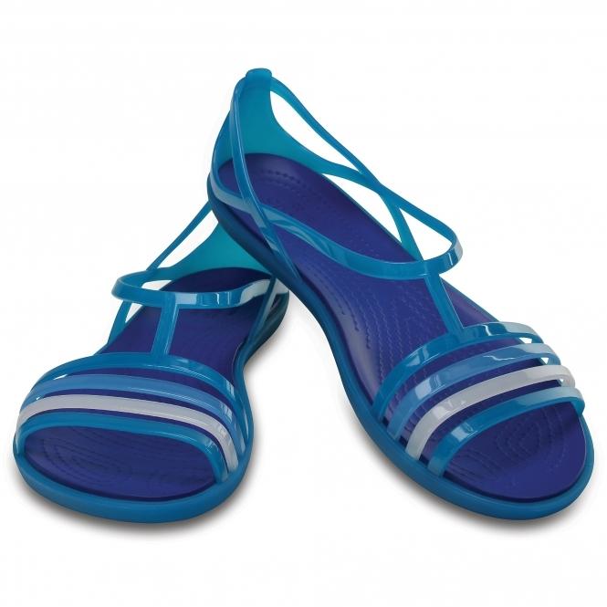 ea4bceeec325 Crocs 202465 ISABELLA SANDAL Strappy Sandals Turquoise Cerulean Blue ...