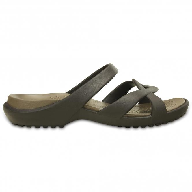 72811f843 Crocs 202497 MELEEN TWIST Ladies Mule Sandals Espresso Walnut