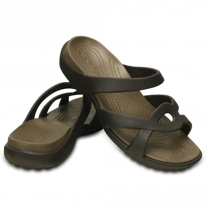 324e65a21546 Crocs 202497 MELEEN TWIST Ladies Mule Sandals Espresso Walnut