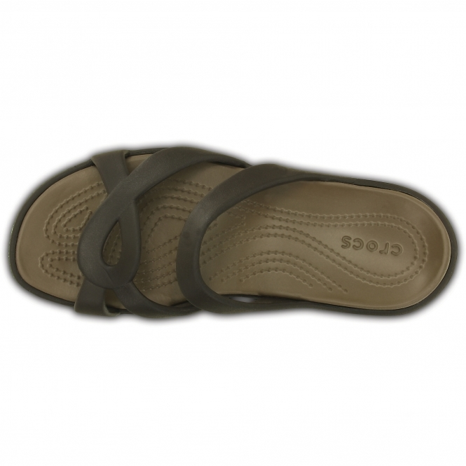 7524efa36fb7 Crocs 202497 MELEEN TWIST Ladies Mule Sandals Espresso Walnut