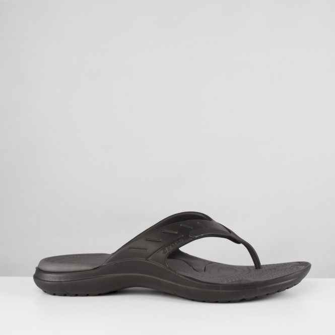 b45a7d219583fc Crocs MODI SPORT FLIP Toe Post Flip Flops Black Graphite