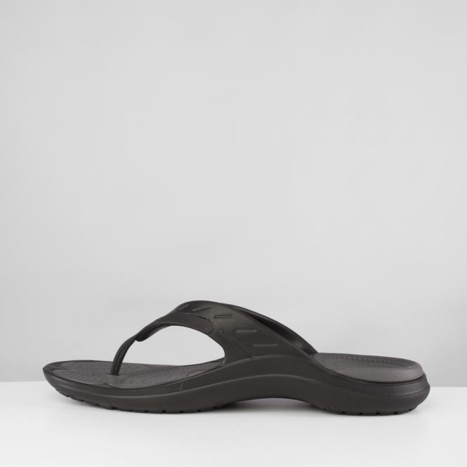f644b3e2a128a9 Crocs MODI SPORT FLIP Toe Post Flip Flops Black Graphite