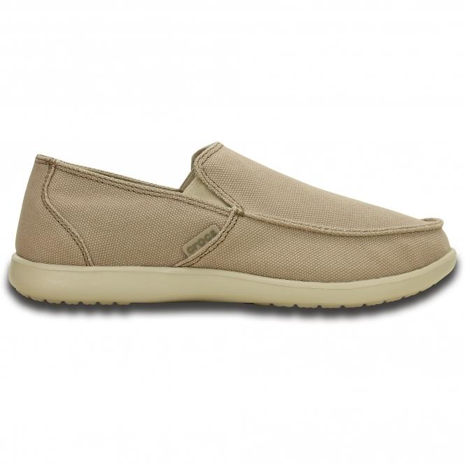 eb484a451bf Crocs 202972 SANTA CRUZ CLEAN CUT Mens Canvas Loafers Khaki Cobblestone