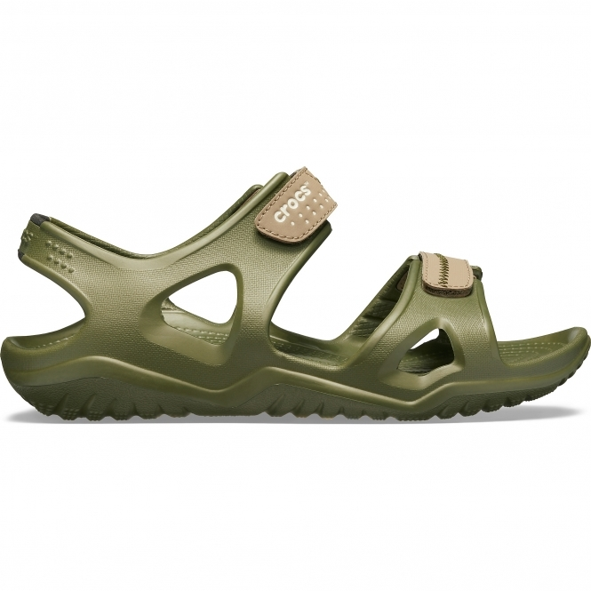 256797e0edb7 Crocs 203965 SWIFTWATER RIVER SANDAL Mens Sandals Army Green Khaki ...