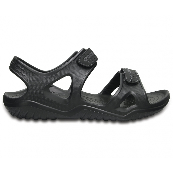 5ffb2b7e7606 Crocs SWIFTWATER RIVER SANDAL Mens Croslite Sports Sandals Black