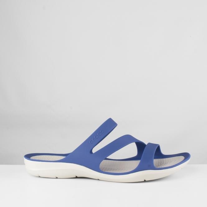 08771ed4f444a Crocs 203998 SWIFTWATER SANDAL Mules Blue Jean Pearl White
