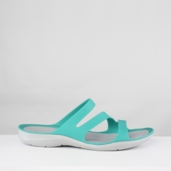 Crocs 203998 SWIFTWATER SANDAL Ladies Mules Tropical Teal/Light Grey