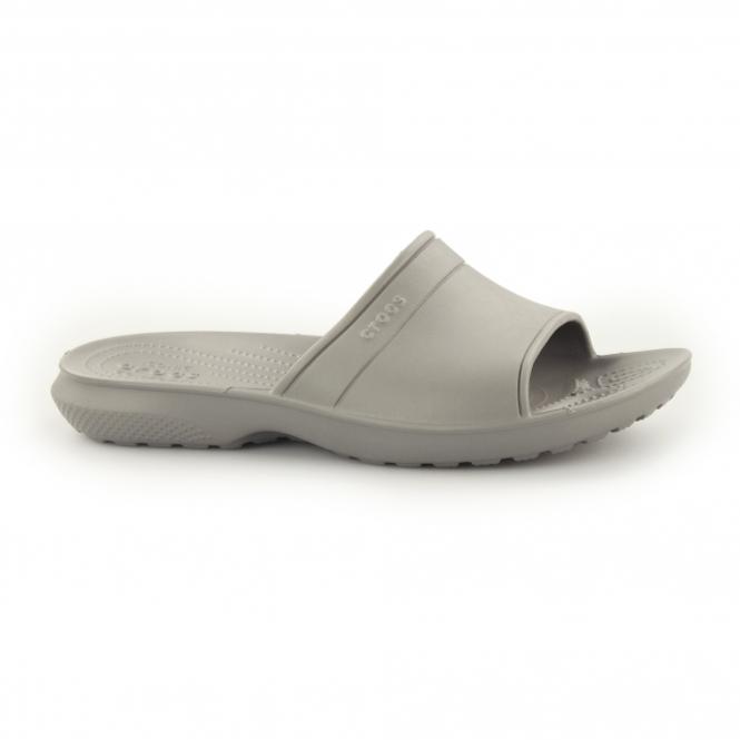 Crocs CLASSIC SLIDE Unisex Mule Flip Flops Smoke