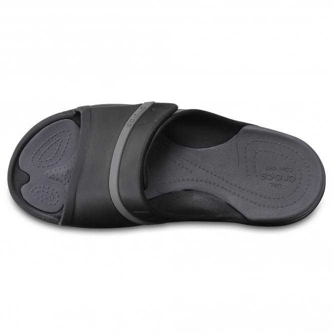 91308aac53f7 Crocs MODI SPORT SLIDE Unisex Mule Flip Flops Black Graphite