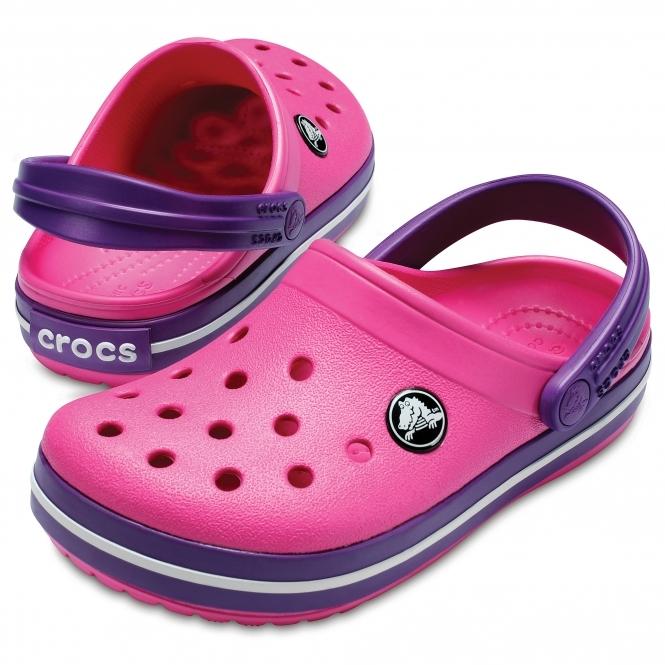 Amethyst Croslite Normal crocs Crocband Clog Kids Paradise Pink