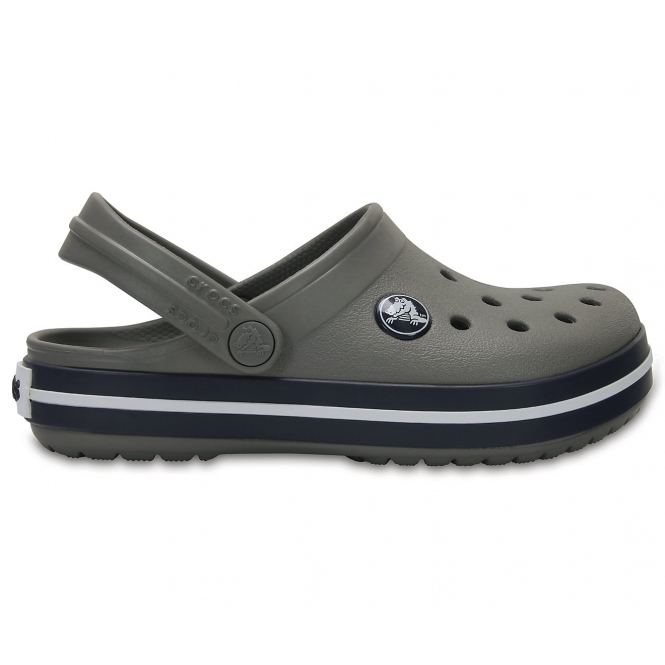 4b1e72fed99d Crocs CROCBAND KIDS Unisex Boys Girls Croslite Clogs Smoke Navy