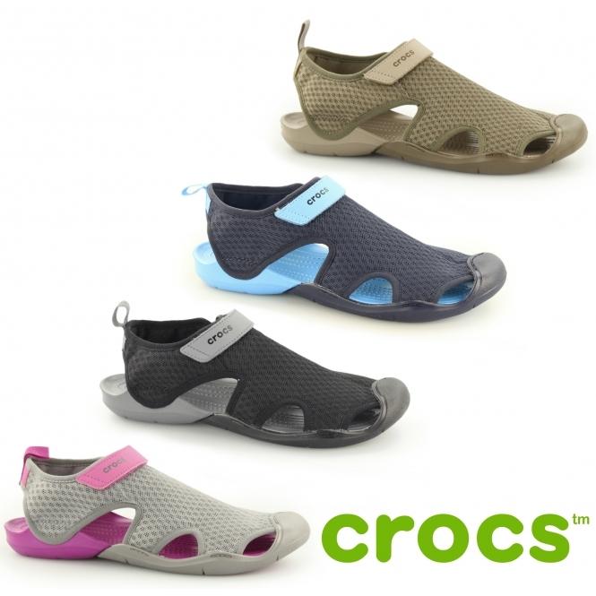 43cd78bcab8b5 Crocs 204597 SWIFTWATER MESH Sandals Walnut