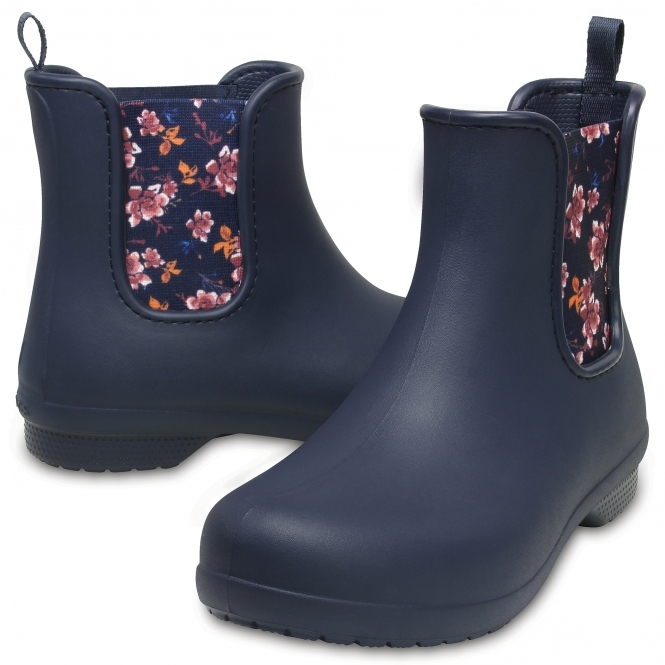 204630 FREESAIL CHELSEA Ladies Boots NavyFloral