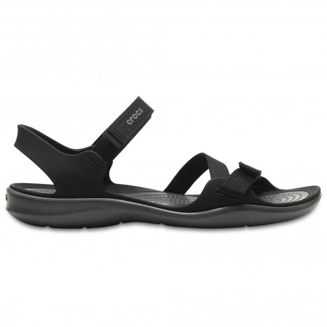 8a8f50fac149 Crocs 204804 SWIFTWATER WEBBING SANDAL Ladies Sandals Black