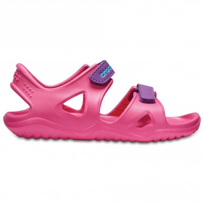 1528c3dd269d Crocs SWIFTWATER RIVER SANDAL Kids Croslite Sandals Paradise Pink Amethyst