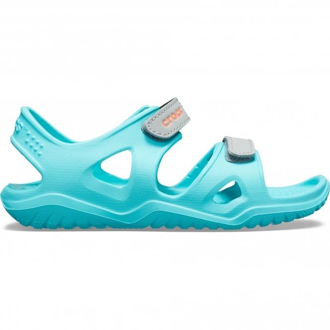 9de66f33a00e Crocs 204988 SWIFTWATER RIVER SANDAL Kids Sandals Pool
