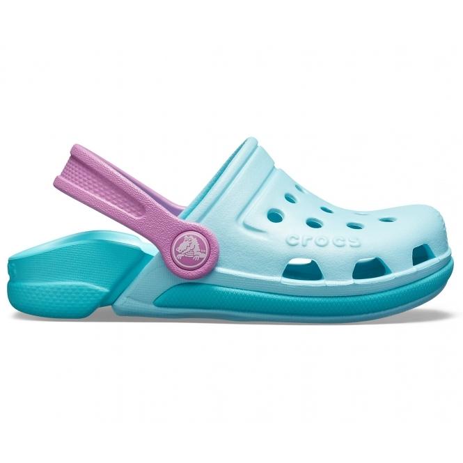 ca705fdf34af Crocs 204991 ELECTRO III CLOG Girls Clogs Ice Blue Pool