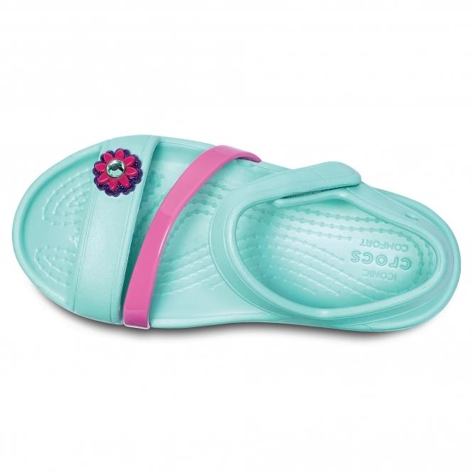 7dda3b238a10 Crocs LINA Girls Croslite Sandals Mint