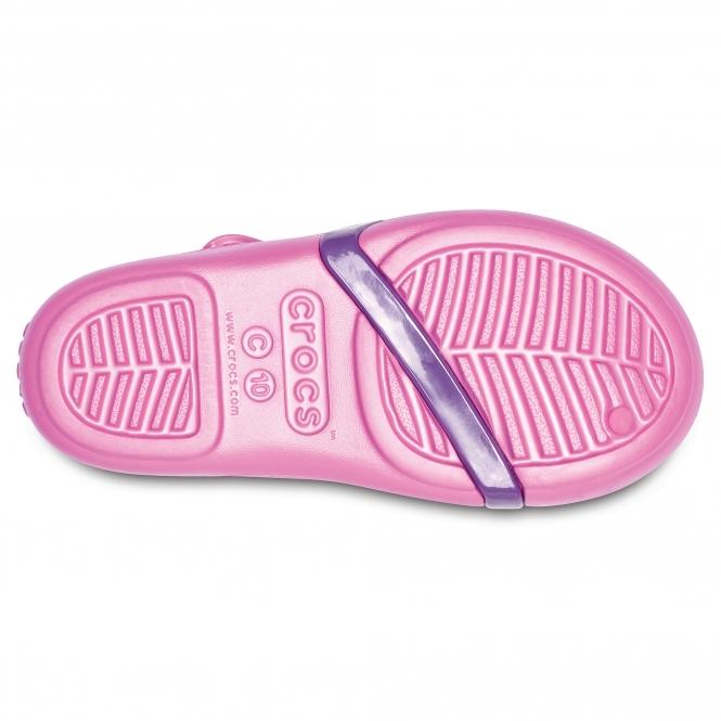 9550e88954b4 Crocs LINA Girls Croslite Sandals Party Pink