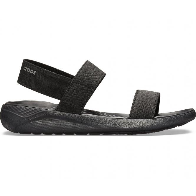 6b4f473ddba9 Crocs 205106 LITERIDE SANDAL Ladies Sandals Black