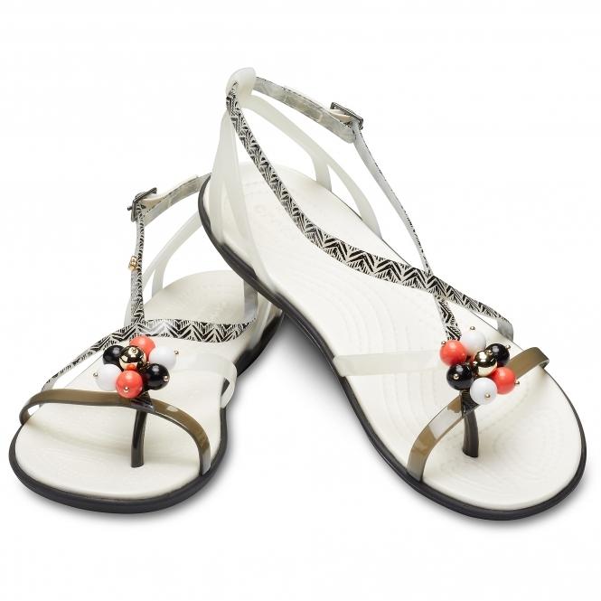 7b4bfa50e3f1 Crocs DREW BARRYMORE ISABELLA Ladies Graphic Sandals Black
