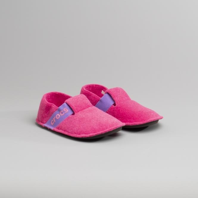 Crocs 205349 CLASSIC SLIPPER Kids Slippers Candy Pink 69361a19de6