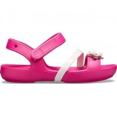 4fad87171 Crocs 205530 LINA CHARM SANDAL Candy Pink