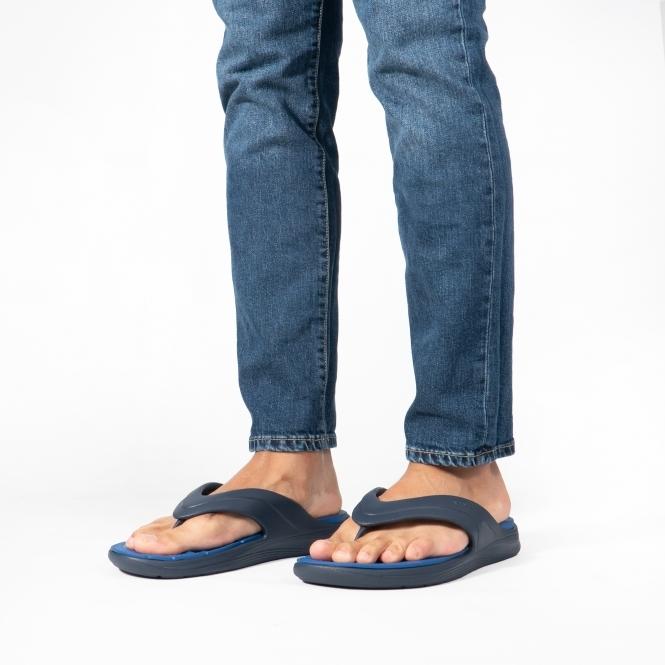 69183abb9ba49 205545 REVIVA FLIP Mens Flip Flops Navy/Blue Jean