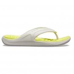 2bea8f953bd Crocs 205545 REVIVA FLIP Pearl White/Citrus NEW SEASON ARRIVAL. Crocs  205545 REVIVA FLIP Mens Flip Flops ...