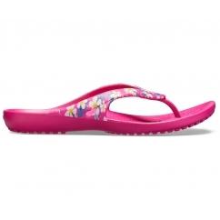 1cdf480a9b6e 205635 KADEE II SEASONAL FLIP Ladies Flip Flops Floral Candy Pink