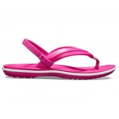 dd343c2aa Crocs 205777 CROCBAND STRAP FLIP Candy Pink