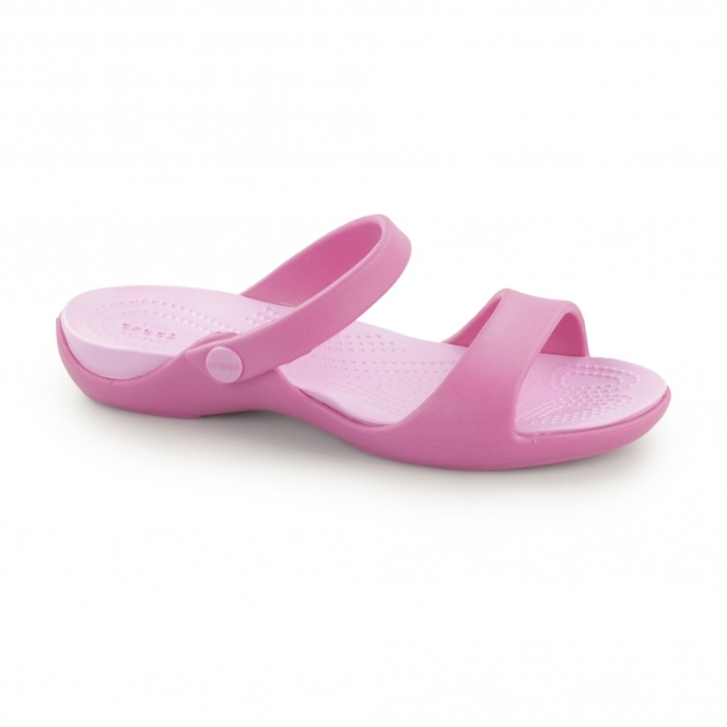 Crocs CLEO V Ladies Slip-On Sandals Candy Pink/Party Pink