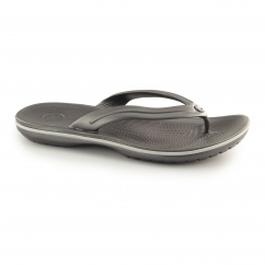 CROCBAND FLIP Unisex Toe Post Flip Flops Graphite/Light Grey