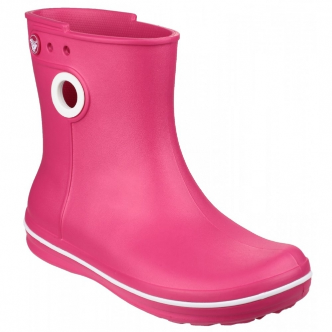Crocs CROCBAND JAUNT SHORTY Ladies Short Wellington Boots Raspberry
