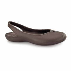 OLIVIA II Ladies Croslite Slingback Shoes Espresso