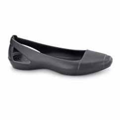 SIENNA FLAT Ladies Ballerina Flat Shoes Black